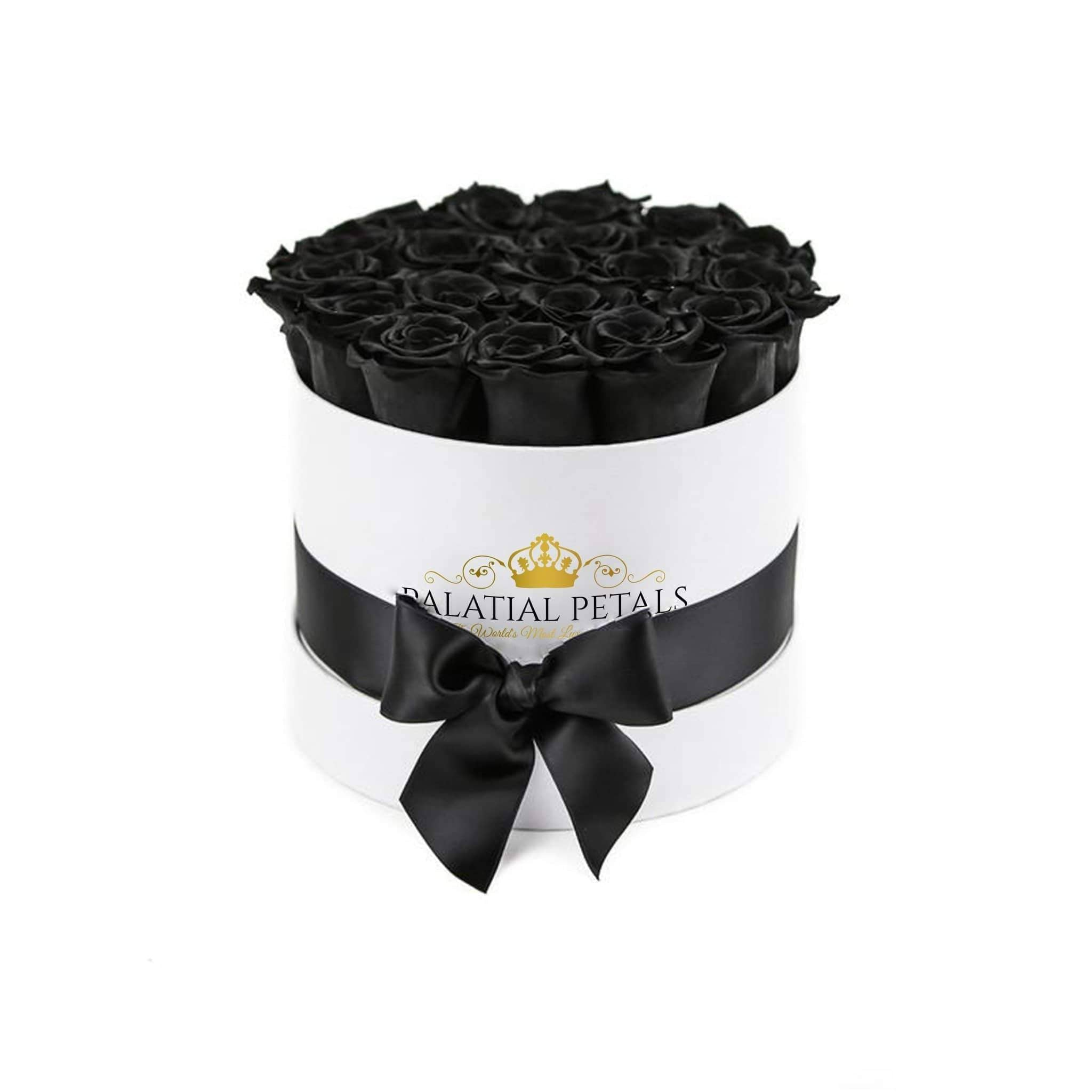 Black Roses That Last A Year - Classic Rose Box - Palatial Petals