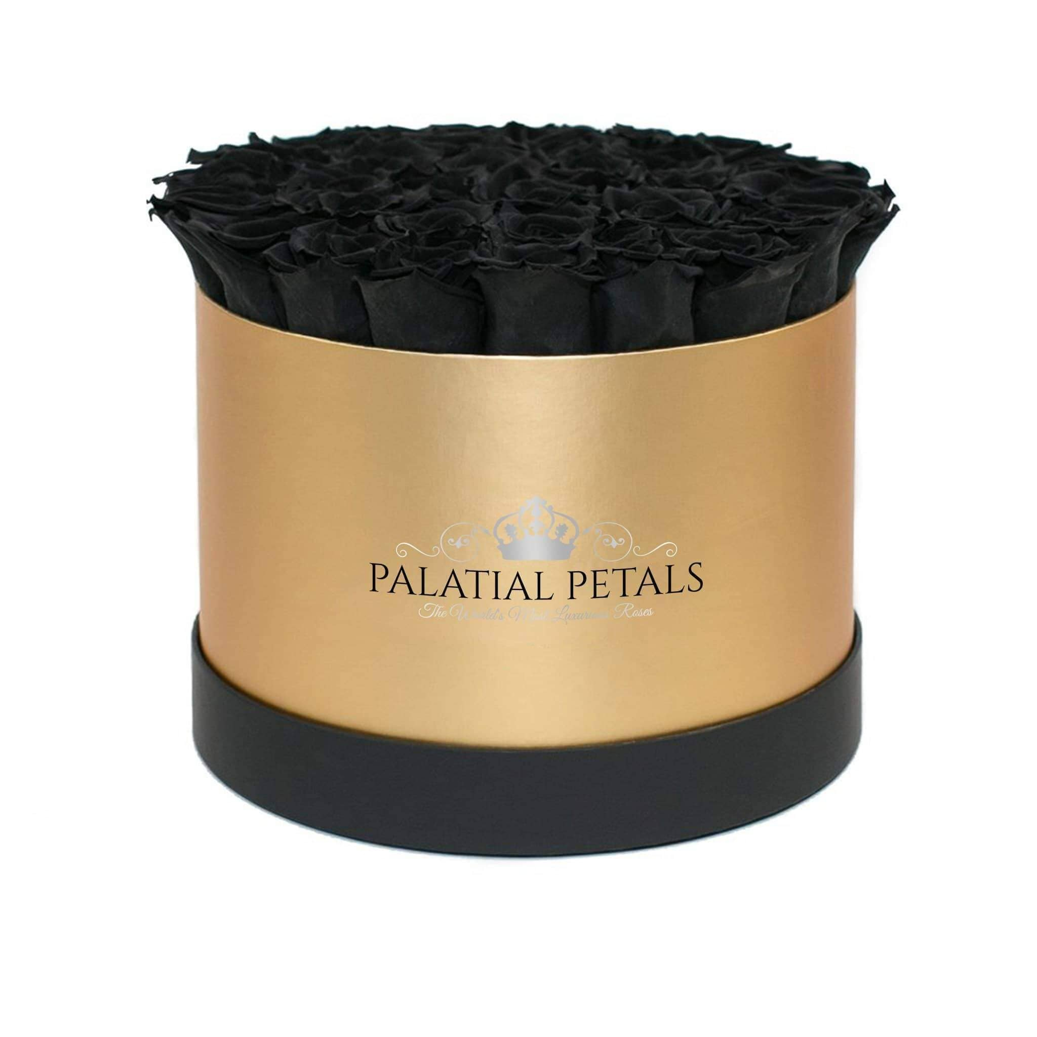 Black Roses That Last A Year - Grande Rose Box - Palatial Petals