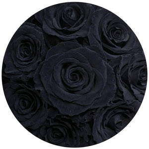 Black Roses That Last A Year - Petite Rose Box - Palatial Petals