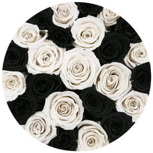 Black & White Roses That Last A Year - Classic Rose Box - Palatial Petals