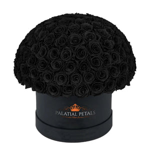 "Black Roses That Last A Year - Grande ""Crown"" Rose Box"