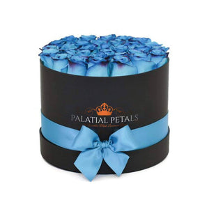 Blue Coral Roses That Last A Year - Grande Rose Box - Palatial Petals