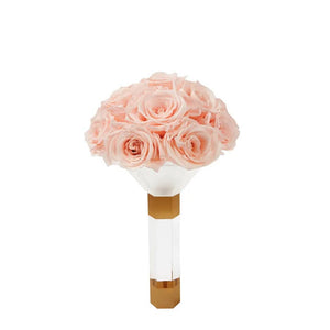 Blush Luxury Eternity Rose Bridesmaid Bouquet - Palatial Petals