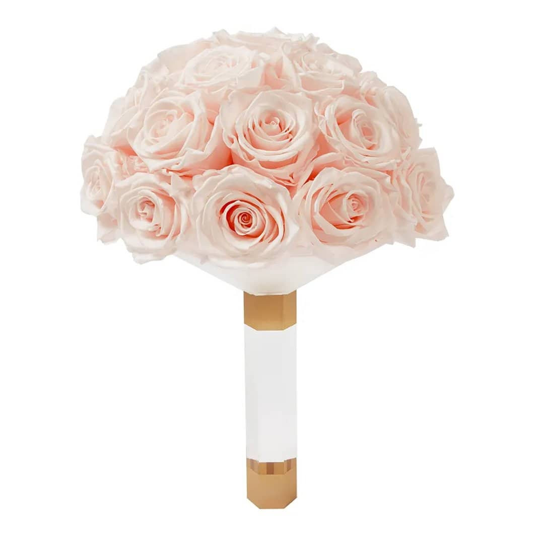 Blush Luxury Eternity Rose Bridal Bouquet - Palatial Petals