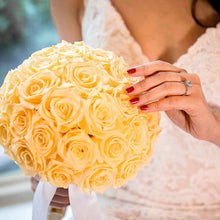Champagne Luxury Eternity Rose Bridal Bouquet