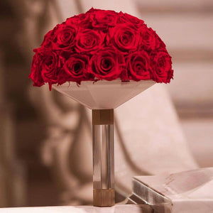 Red Luxury Eternity Rose Bridal Bouquet