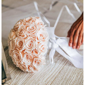 Blush Luxury Eternity Rose Bridal Bouquet