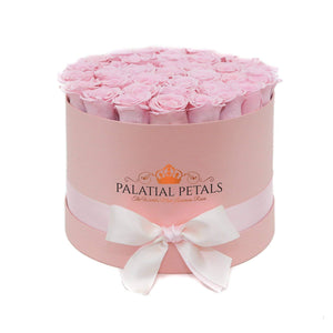 Bridal Pink Roses That Last A Year - Grande Rose Box - Palatial Petals