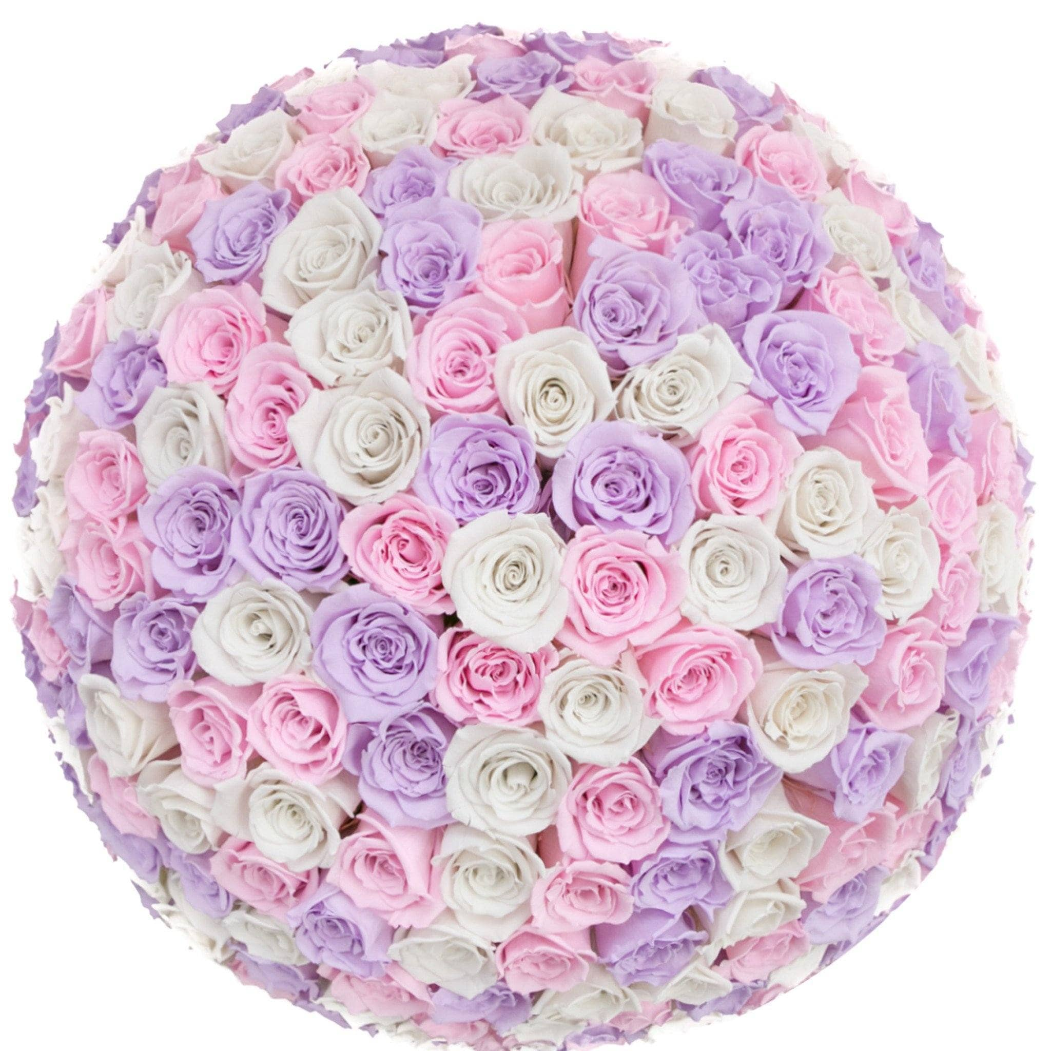 Princess Roses That Last A Year (Dome) - Deluxe Rose Box - Palatial Petals