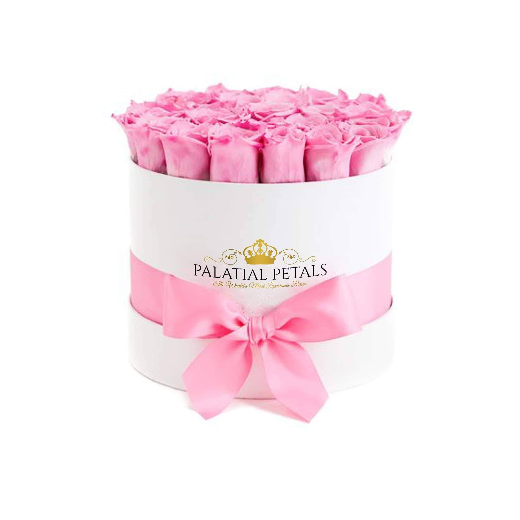 Candy Pink Roses That Last A Year - Classic Rose Box - Palatial Petals