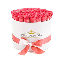 Coral Pink Roses That Last A Year - Large Rose Box - Palatial Petals