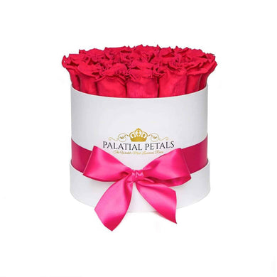 Flamingo Pink Roses That Last A Year - Classic Rose Box - Palatial Petals