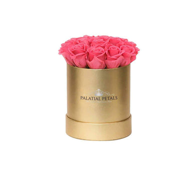 Flamingo Roses That Last A Year - Petite Rose Box - Palatial Petals