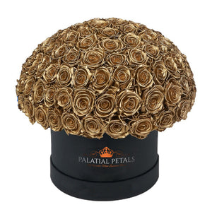 "24k Gold Roses That Last A Year - Grande ""Crown"" Rose Box"