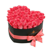 Coral Pink Roses That Last A Year - Love Heart Rose Box