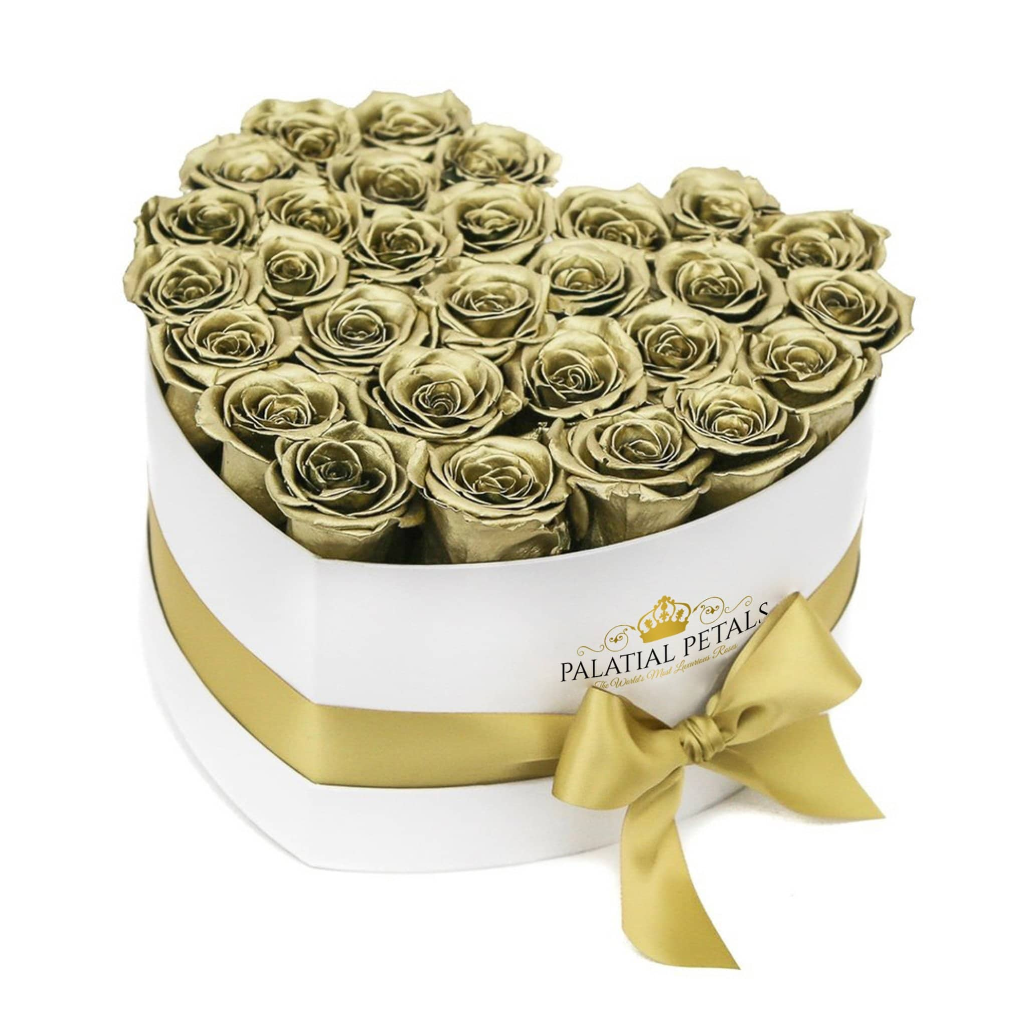 Love Heart Rose Box - 24k Gold