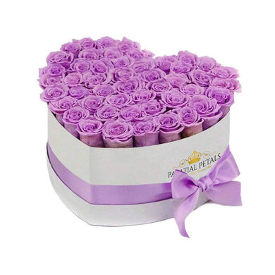 Lavender Roses That Last A Year - Love Heart Rose Box