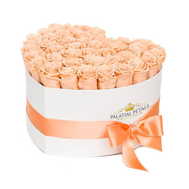 Champagne Roses That Last A Year - Love Heart Rose Box