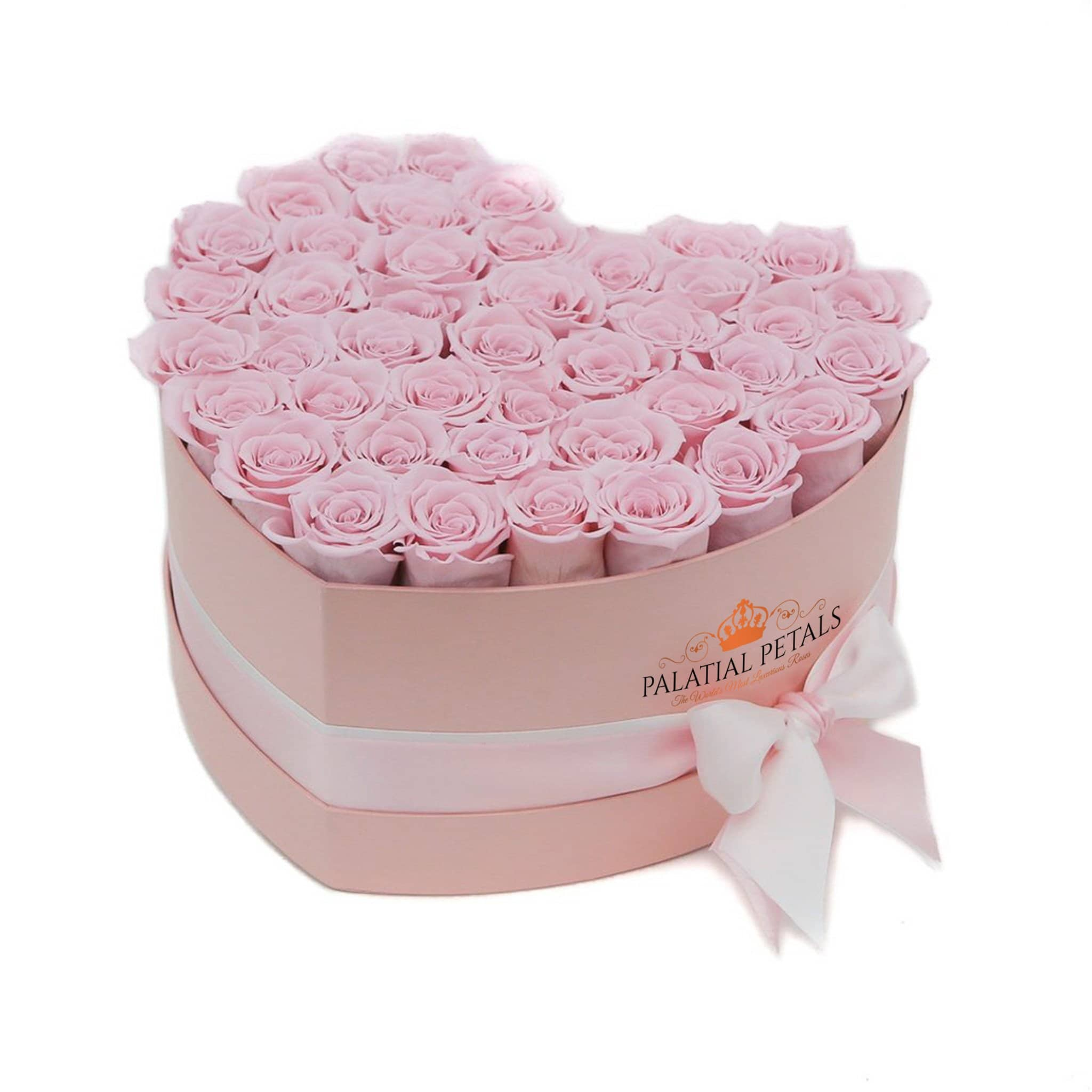 Pink Roses That Last A Year - Love Heart Rose Box