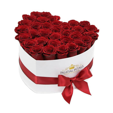 Louboutin Red Roses That Last A Year - Love Heart Box