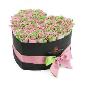 Tropical Roses That Last A Year - Love Heart Rose Box