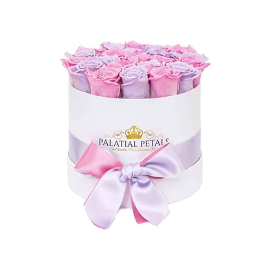 Lavender & Pink Roses That Last A Year - Classic Rose Box - Palatial Petals