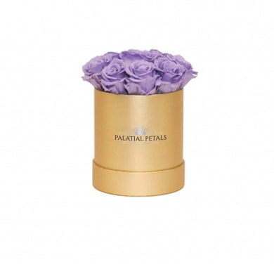 Lavender Roses That Last A Year - Petite Rose Box - Palatial Petals