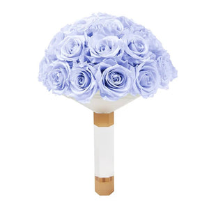 Lavender Luxury Eternity Rose Bridal Bouquet - Palatial Petals