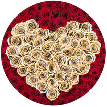 Red & 24K Gold Roses That Last A Year - Deluxe Rose Box - Palatial Petals