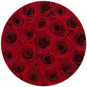 Louboutin Red Preserved Roses That Last A Year - Medium Black Rose Box - Palatial Petals