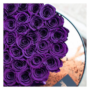 Purple Roses That Last A Year - Deluxe Rose Box - Palatial Petals