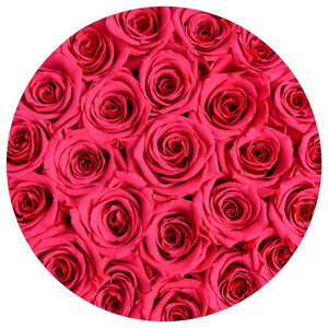 Medium Black Rose Box - Flamingo Luxury Roses That Last 3 Years! - Palatial Petals