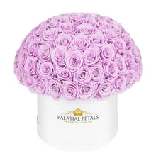 "Lilac Roses That Last A Year - Grande ""Dome 360"" Rose Box"