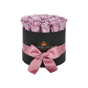 Metallic Purple Roses That Last A Year - Classic Rose Box - Palatial Petals