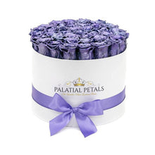Metallic Purple Roses That Last A Year - Large Rose Box - Palatial Petals
