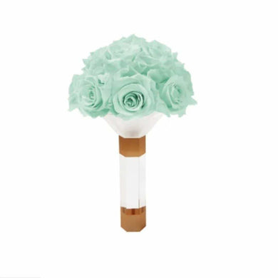 Mint Green Luxury Eternity Rose Bridesmaid Bouquet - Palatial Petals