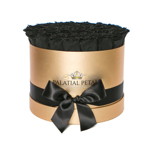 Olive Green Preserved Roses That Last A Year - Large Gold Rose Box - Palatial Petals