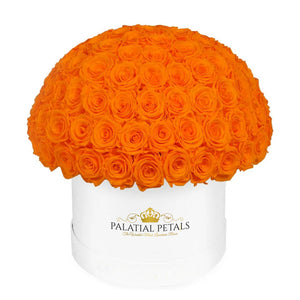 "Hermès Orange Roses That Last A Year - Grande ""Crown"" Rose Box"