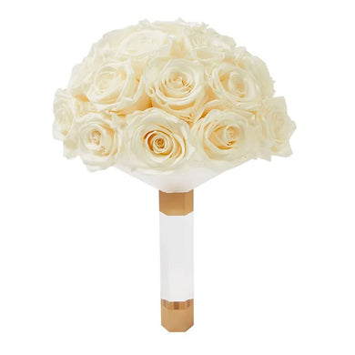 Pearl Luxury Eternity Rose Bridal Bouquet - Palatial Petals