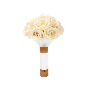Pearl Luxury Eternity Rose Bridesmaid Bouquet - Palatial Petals