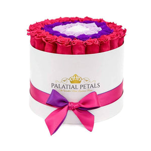 Pink, Purple, Lavender & White Roses That Last A Year - Large Rose Box - Palatial Petals