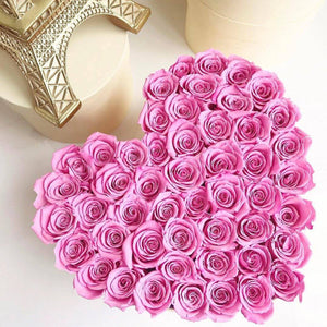 Pink Roses That Last A Year - Love Heart Rose Box - Palatial Petals