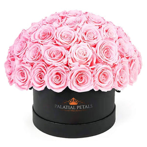 "Pink Roses That Last A Year - Medium ""Dome"" Rose Box - Palatial Petals"