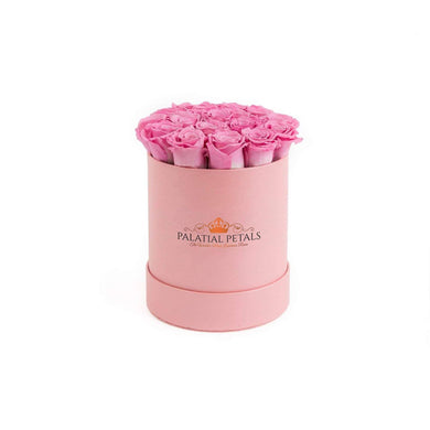 Pink Roses That Last A Year - Petite Rose Box - Palatial Petals