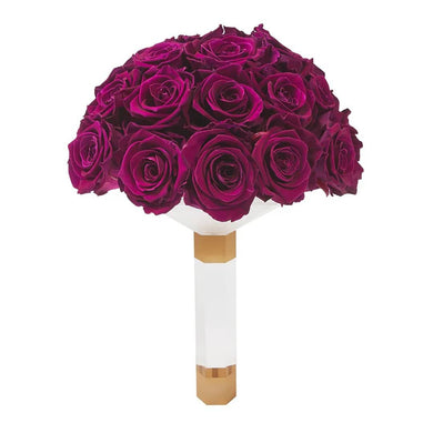 Plum Luxury Eternity Rose Bridal Bouquet - Palatial Petals