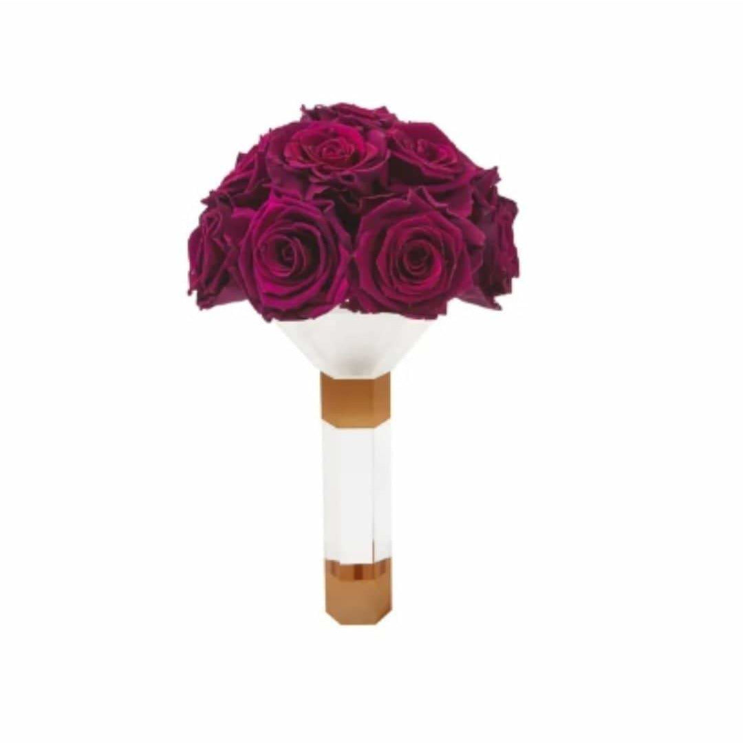 Plum Luxury Eternity Rose Bridesmaid Bouquet - Palatial Petals