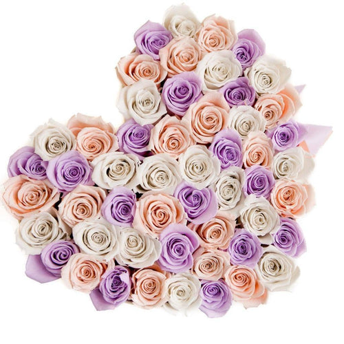 Princess Roses That Last A Year - Love Heart Box - Palatial Petals