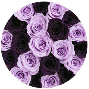 Purple & Lavender Roses That Last A Year - Classic Rose Box - Palatial Petals