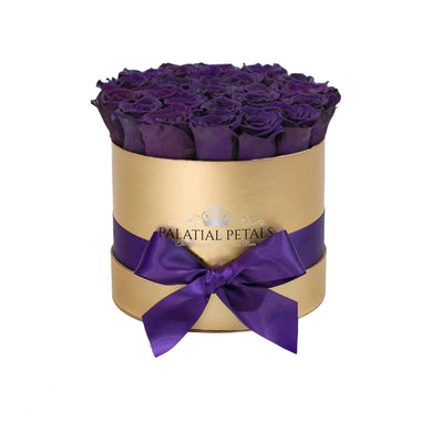 Purple Roses That Last A Year - Classic Rose Box - Palatial Petals