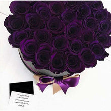 Purple Roses That Last A Year - Large Rose Box - Palatial Petals
